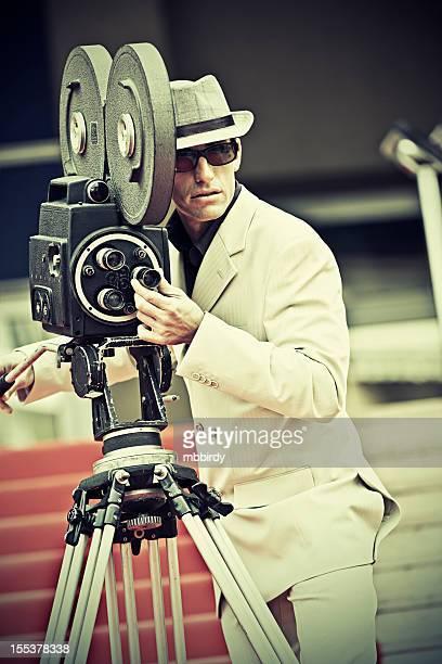 Kameramann auf roten Teppich in Cannes