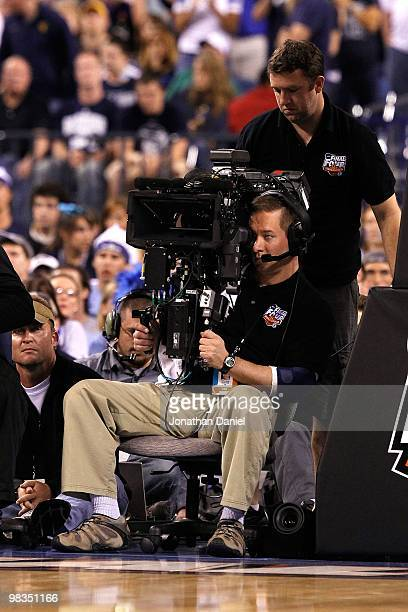 A cameraman operates a Fusion 3D camera rig as the Butler Bulldogs play against the Duke Blue Devils during the 2010 NCAA Division I Men's Basketball...