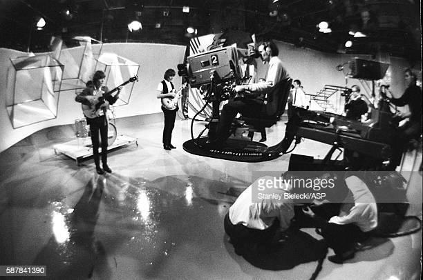 Cameramen filming The Walker Brothers on TV show Thank Your Lucky Stars United Kingdom August 1965 LR Scott Walker John Walker