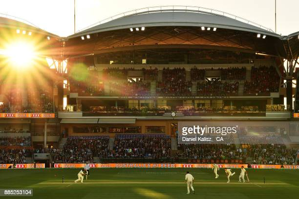 Cameron Bancroft of Australia bats during day three of the Second Test match during the 2017/18 Ashes Series between Australia and England at...