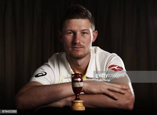 Cameron Bancroft of Australia poses during the Australia Test cricket team portrait session on November 20 2017 in Brisbane Australia