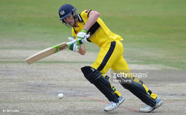 Cameron Bancroft of Gloucestershire bats during the Natwest T20 Blast match between Gloucestershire and Kent at the College Ground on July 13 2017 in...