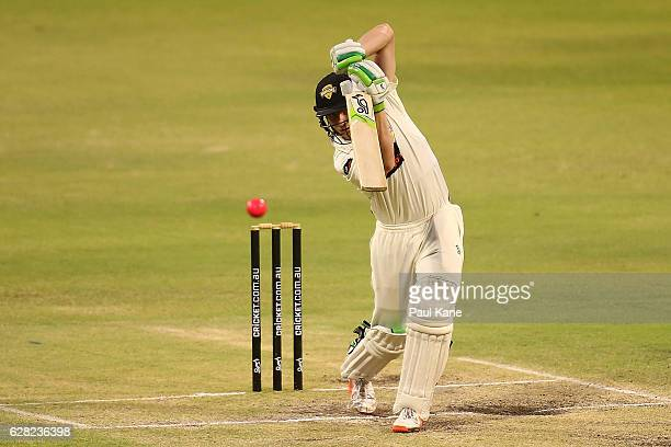 Cameron Bancroft of Western Australia bats during day three of the Sheffield Shield match between Western Australia and Queensland at WACA on...