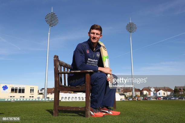 Cameron Bancroft poses for a portrait during the Gloucestershire County Cricket photocall at The Brightside Ground on April 5 2017 in Bristol England