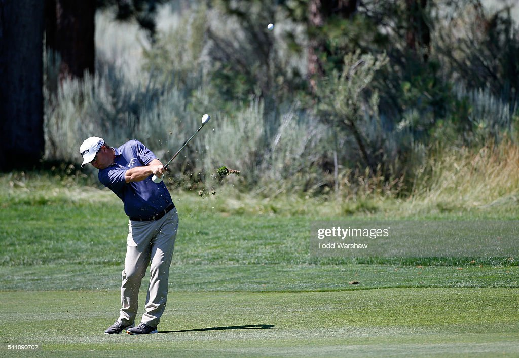 <a gi-track='captionPersonalityLinkClicked' href=/galleries/search?phrase=Cameron+Beckman&family=editorial&specificpeople=2292391 ng-click='$event.stopPropagation()'>Cameron Beckman</a> plays his shot on the eighth hole during the second round of the Barracuda Championship at the Montreux Golf and Country Club on July 1, 2016 in Reno, Nevada.