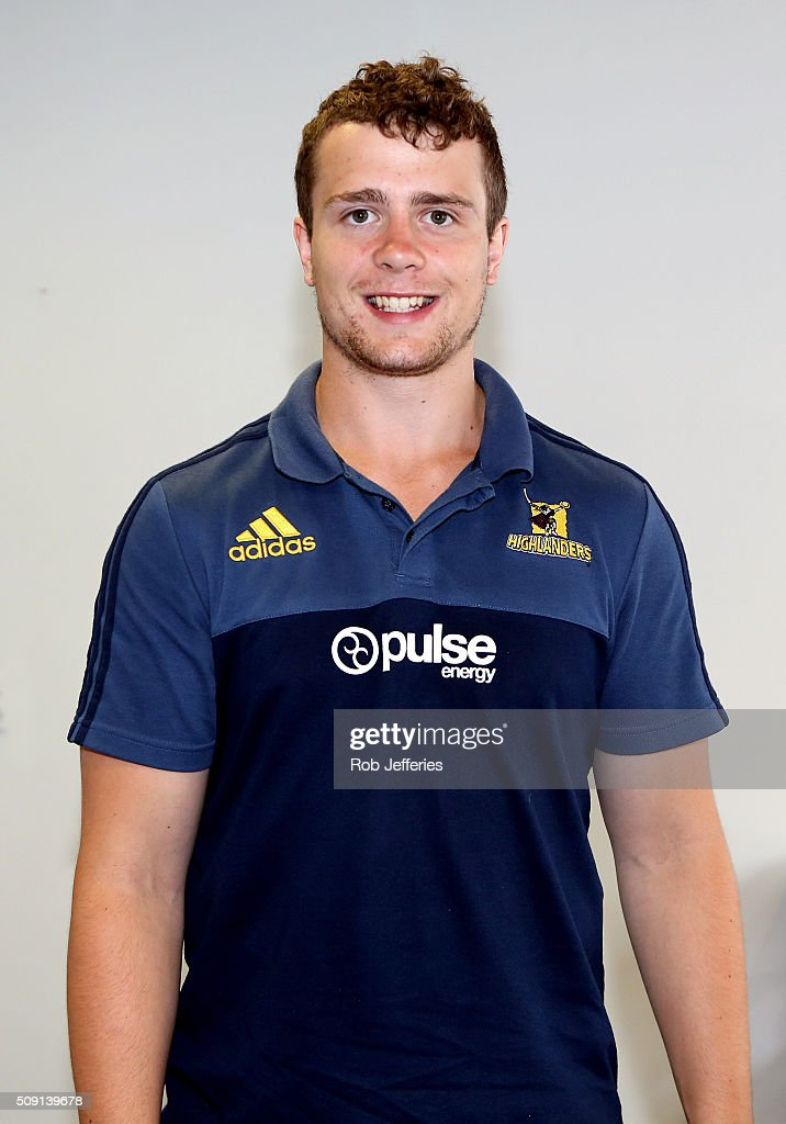 Cameron Bone of the Highlanders poses for a photo during a Highlanders portrait session on February 9, 2016 in Dunedin, New Zealand.