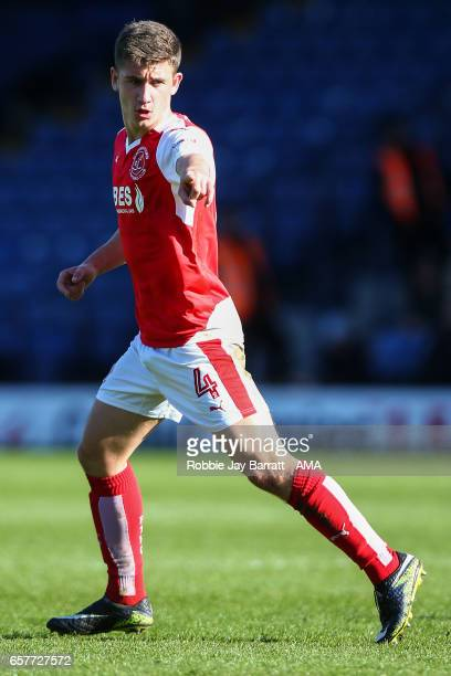 Cameron Brannagan of Fleetwood Town during the Sky Bet League One match between Bury and Fleetwood Town at Gigg Lane on March 25 2017 in Bury England