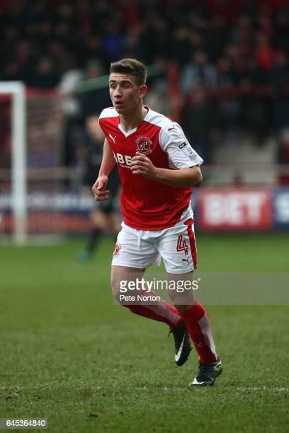 Cameron Brannagan of Fleetwood Town in action during the Sky Bet League One match between Fleetwood Town and Northampton Town at Highbury Stadium on...