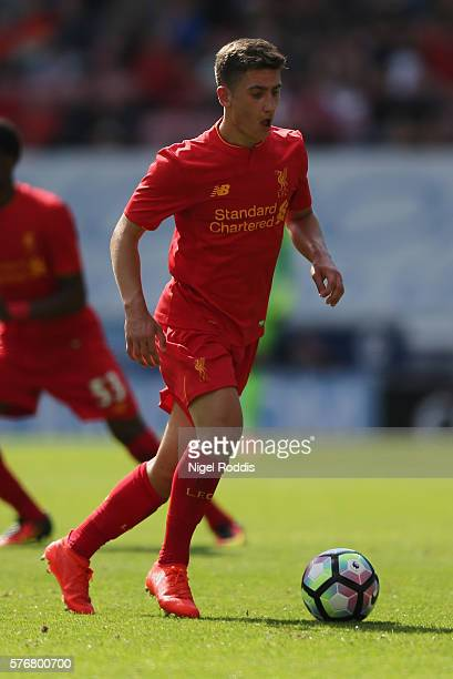 Cameron Brannagan of Liverpool during the PreSeason Friendly match between Wigan Athletic and Liverpool at JJB Stadium on July 17 2016 in Wigan...