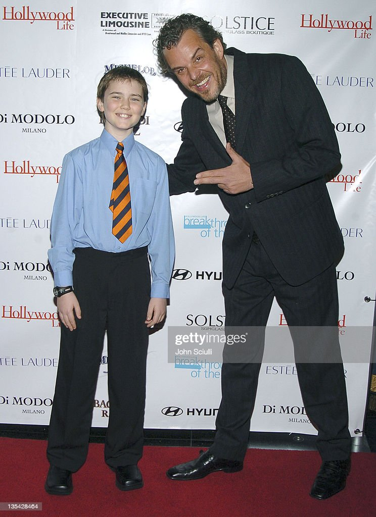 Cameron Bright and Danny Huston during Hollywood Life's 4th Annual Breakthrough of the Year Awards Red Carpet at Henry Fonda Theatre in Hollywood...