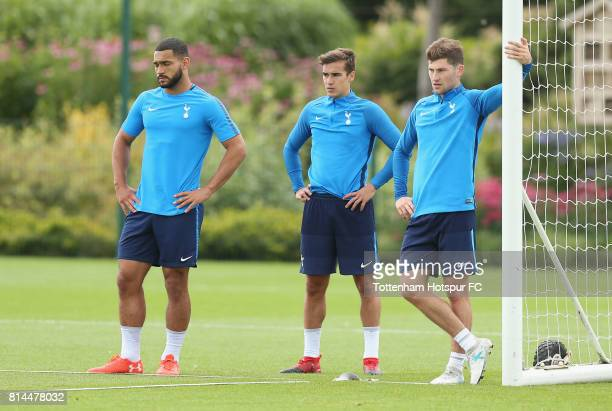 Cameron CarterVickers Harry Winks and Ben Davies of Tottenham during the Tottenham Hotspur training session at Tottenham Hotspur Training Centre on...