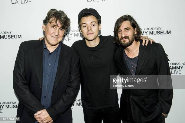 Cameron Crowe Harry Styles and Jeff Bhasker attend Special MembersOnly Event With Harry Styles at The GRAMMY Museum on September 15 2017 in Los...