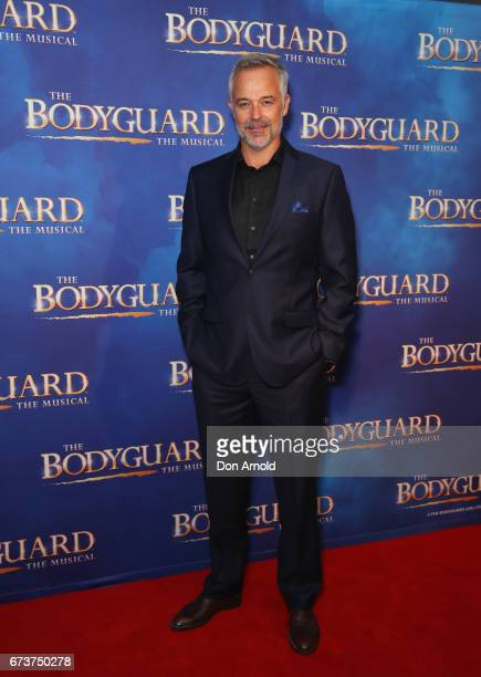 Cameron Daddo arrives ahead of opening night of The Bodyguard The Musical at Lyric Theatre Star City on April 27 2017 in Sydney Australia