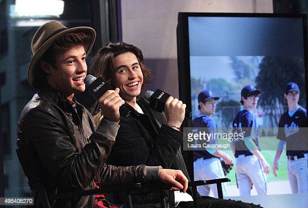 Cameron Dallas and Nash Grier attend AOL BUILD Presents 'The Outfield' at AOL Studios In New York on November 2 2015 in New York City