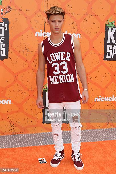 Cameron Dallas arrives at the Nickelodeon Kids' Choice Sports Awards 2016 at the UCLA's Pauley Pavilion on July 14 2016 in Westwood California