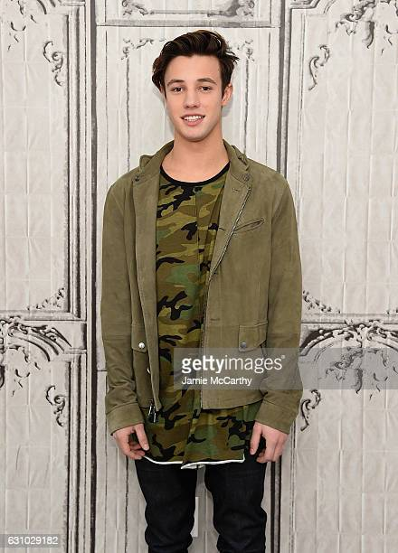 Cameron Dallas attends the Build Presents Cameron Dallas Discussing 'Know Thy Selfie' at AOL HQ on January 5 2017 in New York City