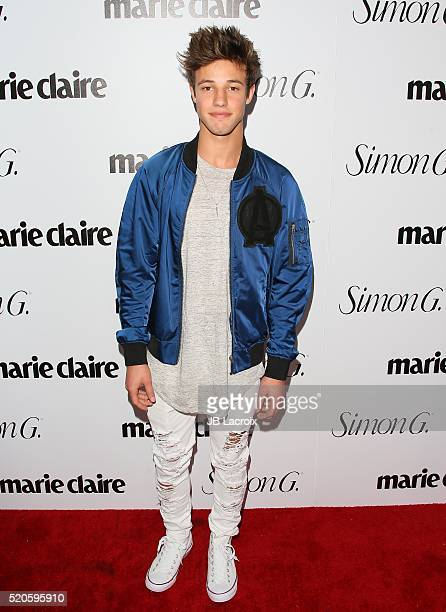 Cameron Dallas attends the 'Fresh Faces' party hosted by Marie Claire celebrating the May issue cover stars on April 11 2016 in Los Angeles California