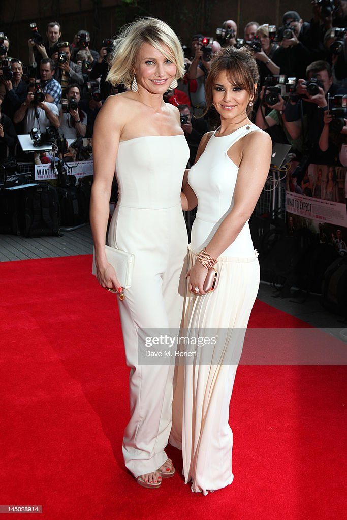 <a gi-track='captionPersonalityLinkClicked' href=/galleries/search?phrase=Cameron+Diaz&family=editorial&specificpeople=201892 ng-click='$event.stopPropagation()'>Cameron Diaz</a> and Cheryl Cole attend the UK premiere of 'What To Expect When You're Expecting' at BFI IMAX on May 22, 2012 in London, England.