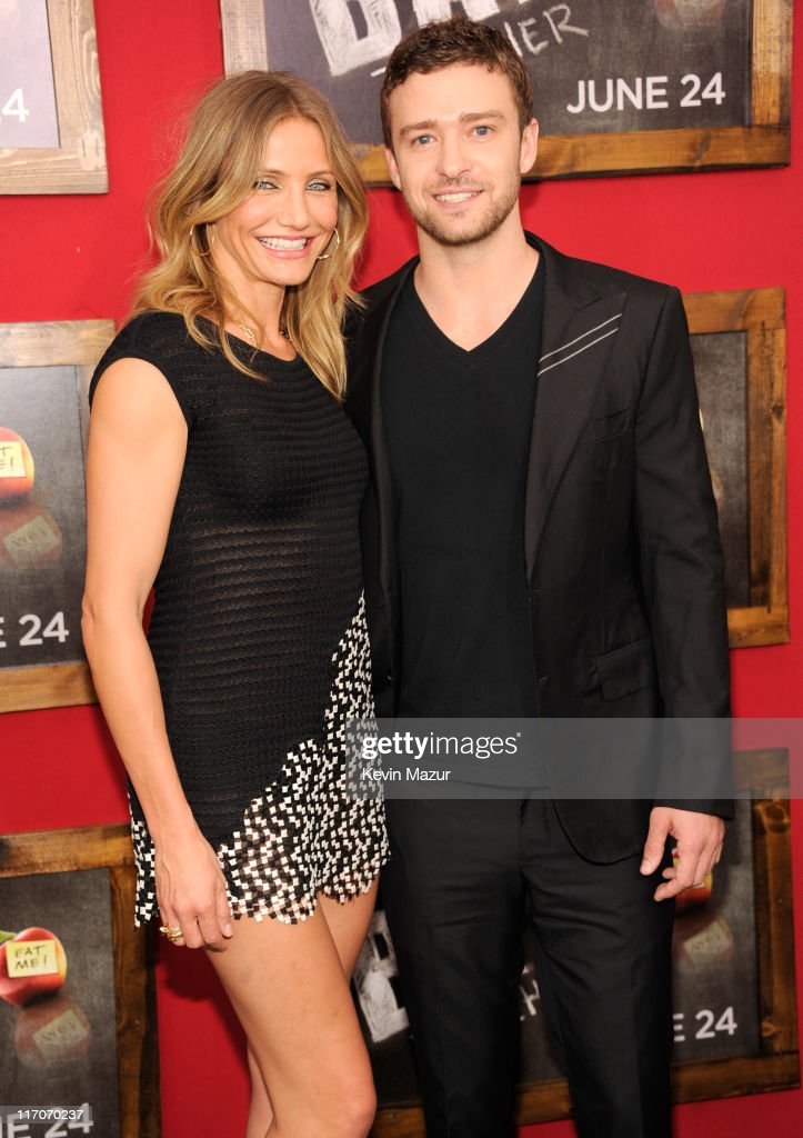 Cameron Diaz and Justin Timberlake attend the New York premiere of 'Bad Teacher' at the Ziegfeld Theatre on June 20, 2011 in New York City.