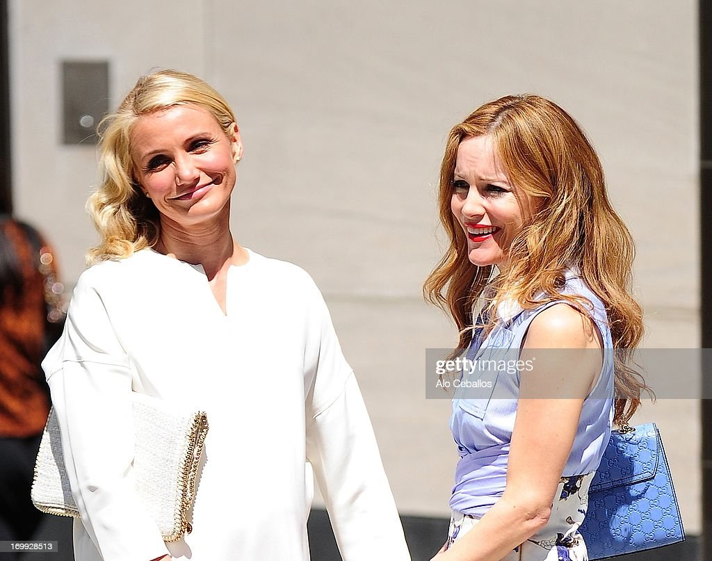 <a gi-track='captionPersonalityLinkClicked' href=/galleries/search?phrase=Cameron+Diaz&family=editorial&specificpeople=201892 ng-click='$event.stopPropagation()'>Cameron Diaz</a> and <a gi-track='captionPersonalityLinkClicked' href=/galleries/search?phrase=Leslie+Mann&family=editorial&specificpeople=595973 ng-click='$event.stopPropagation()'>Leslie Mann</a> are seen on the set of 'The Other Woman' on June 4, 2013 in New York City.