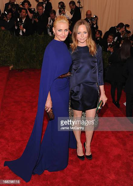 Cameron Diaz and Stella McCartney attend the Costume Institute Gala for the 'PUNK Chaos to Couture' exhibition at the Metropolitan Museum of Art on...