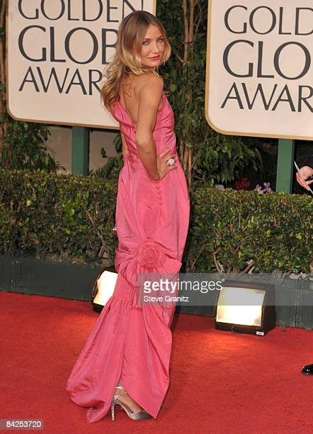 Cameron Diaz arrives at The 66th Annual Golden Globe Awards at The Beverly Hilton Hotel on January 11 2009 in Hollywood California
