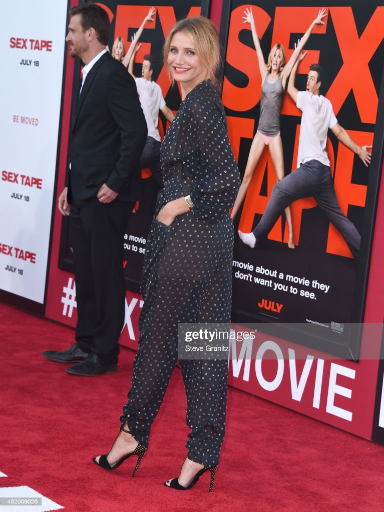 <a gi-track='captionPersonalityLinkClicked' href=/galleries/search?phrase=Cameron+Diaz&family=editorial&specificpeople=201892 ng-click='$event.stopPropagation()'>Cameron Diaz</a> arrives at the 'Sex Tape' - Los Angeles Premiere at Regency Village Theatre on July 10, 2014 in Westwood, California.