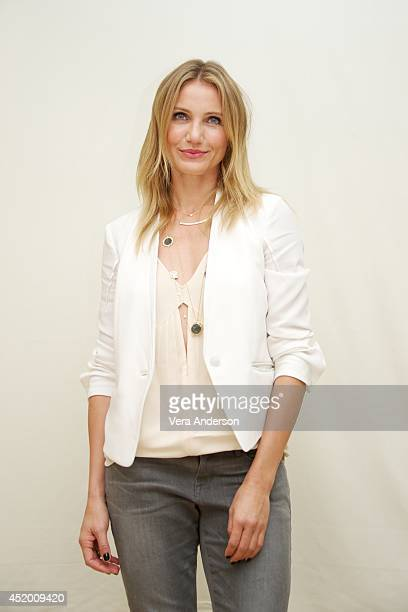 Cameron Diaz at the 'Sex Tape' Press Conference at the Four Seasons Hotel on July 9 2014 in Beverly Hills California