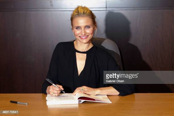 Cameron Diaz attends a book signing for 'The Body Book' at Barnes Noble bookstore at The Grove on January 16 2014 in Los Angeles California