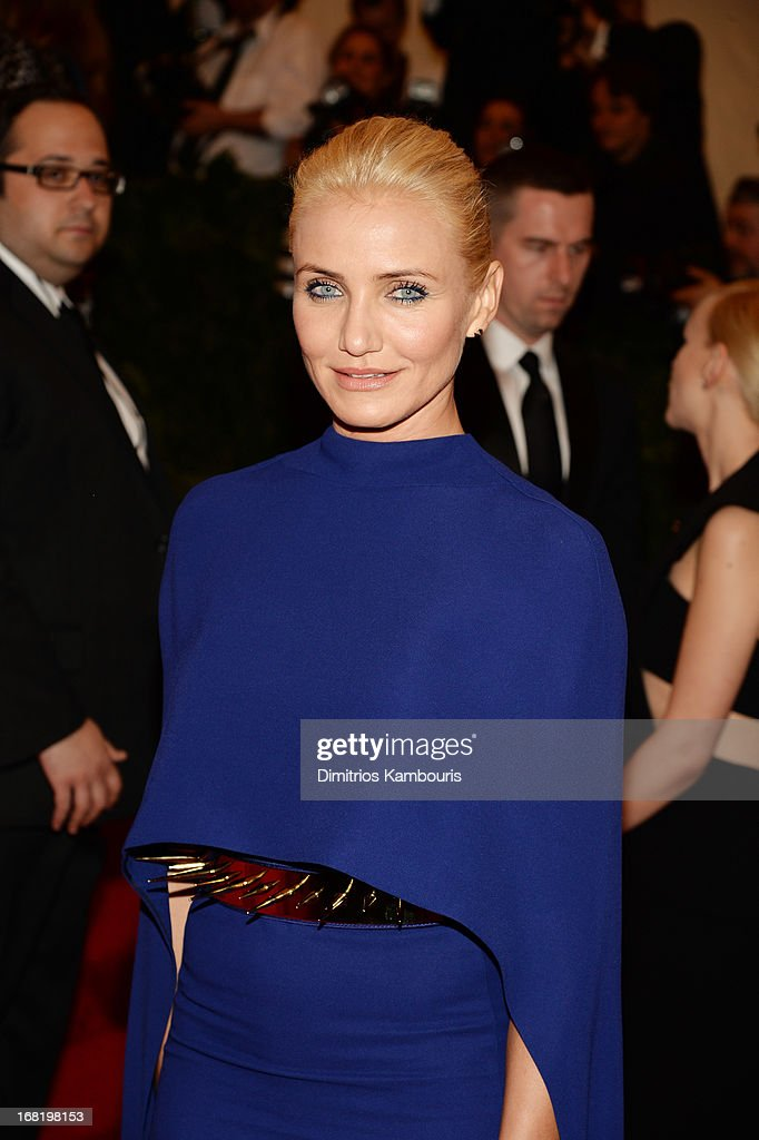 Cameron Diaz attends the Costume Institute Gala for the 'PUNK: Chaos to Couture' exhibition at the Metropolitan Museum of Art on May 6, 2013 in New York City.