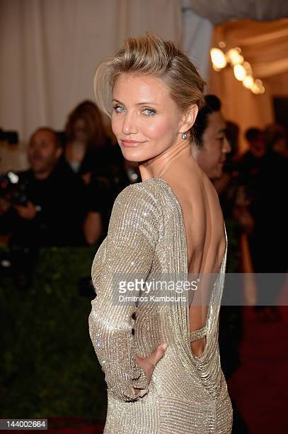 Cameron Diaz attends the 'Schiaparelli And Prada Impossible Conversations' Costume Institute Gala at the Metropolitan Museum of Art on May 7 2012 in...