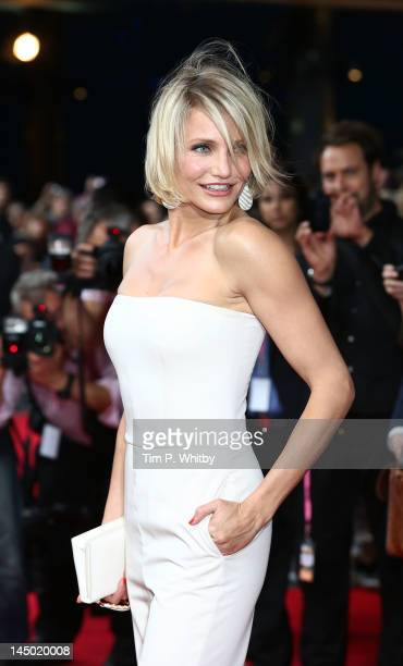 Cameron Diaz attends the UK film premiere of 'What To Expect When You're Expecting' at BFI IMAX on May 22 2012 in London England