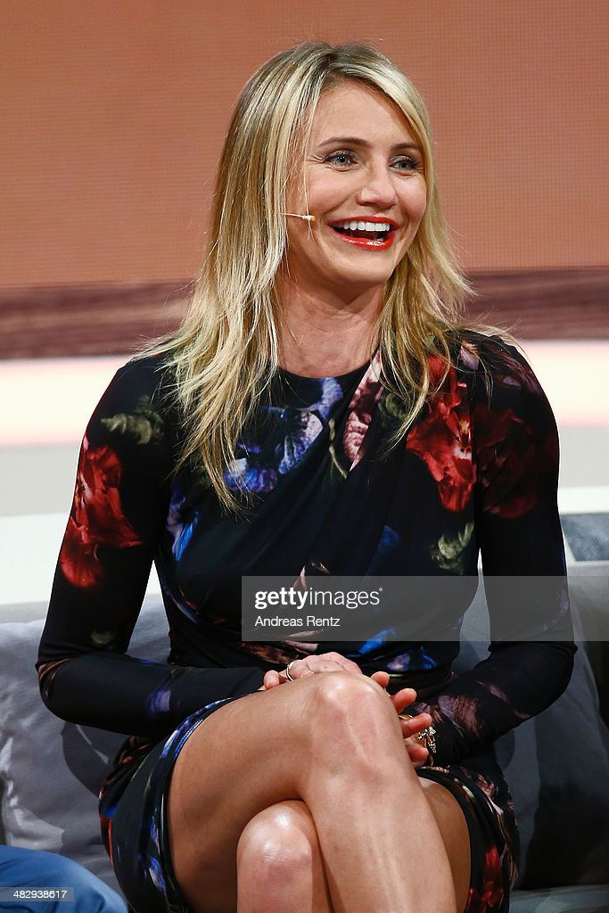 Cameron Diaz attends the 'Wetten, dass..?' tv show on April 5, 2014 in Offenburg, Germany.