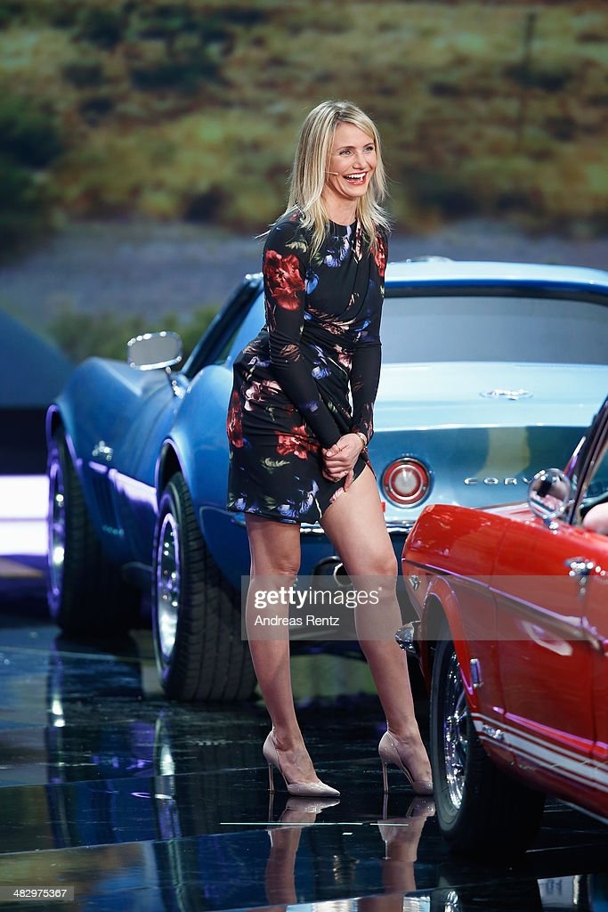 <a gi-track='captionPersonalityLinkClicked' href=/galleries/search?phrase=Cameron+Diaz&family=editorial&specificpeople=201892 ng-click='$event.stopPropagation()'>Cameron Diaz</a> attends the 'Wetten, dass..?' tv show on April 5, 2014 in Offenburg, Germany.