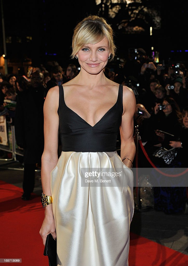 Cameron Diaz attends the World Premiere of 'Gambit' at Empire Leicester Square on November 7 2012 in London England