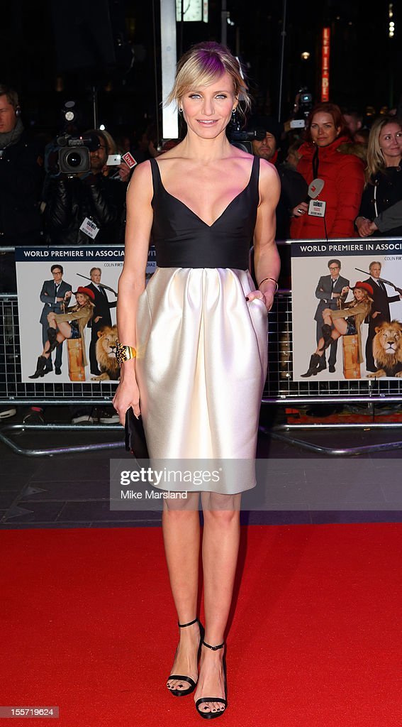 Cameron Diaz attends the World Premiere of Gambit at Empire Leicester Square on November 7 2012 in London England