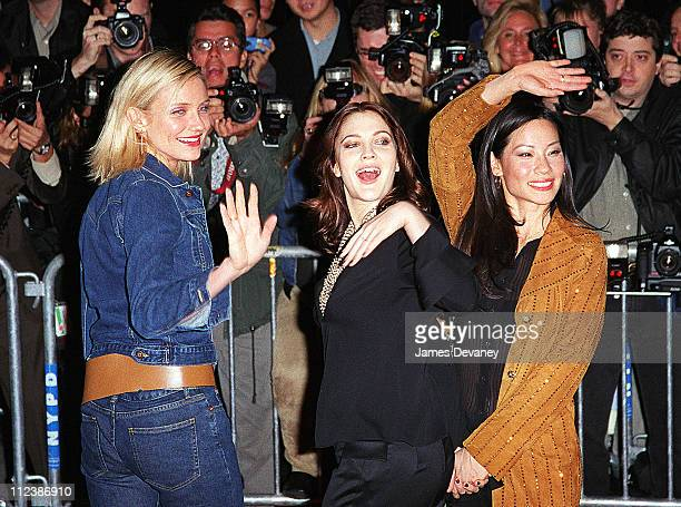 Cameron Diaz Drew Barrymore and Lucy Liu during New York Screening of 'Charlie's Angeles' at Ziegfeld Theatre in New York City New York United States