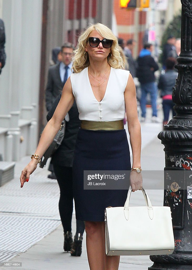 Cameron Diaz is seen on location for 'The Other Woman' on May 6, 2013 in New York City.