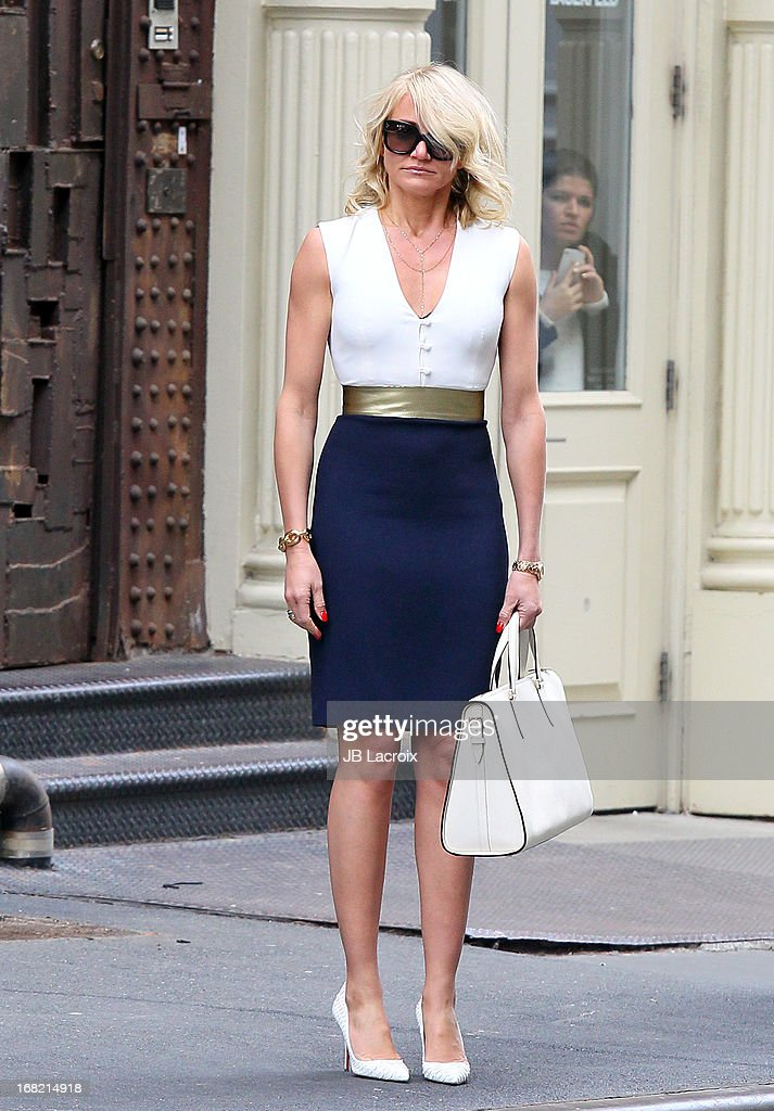 <a gi-track='captionPersonalityLinkClicked' href=/galleries/search?phrase=Cameron+Diaz&family=editorial&specificpeople=201892 ng-click='$event.stopPropagation()'>Cameron Diaz</a> is seen on location for 'The Other Woman' on May 6, 2013 in New York City.