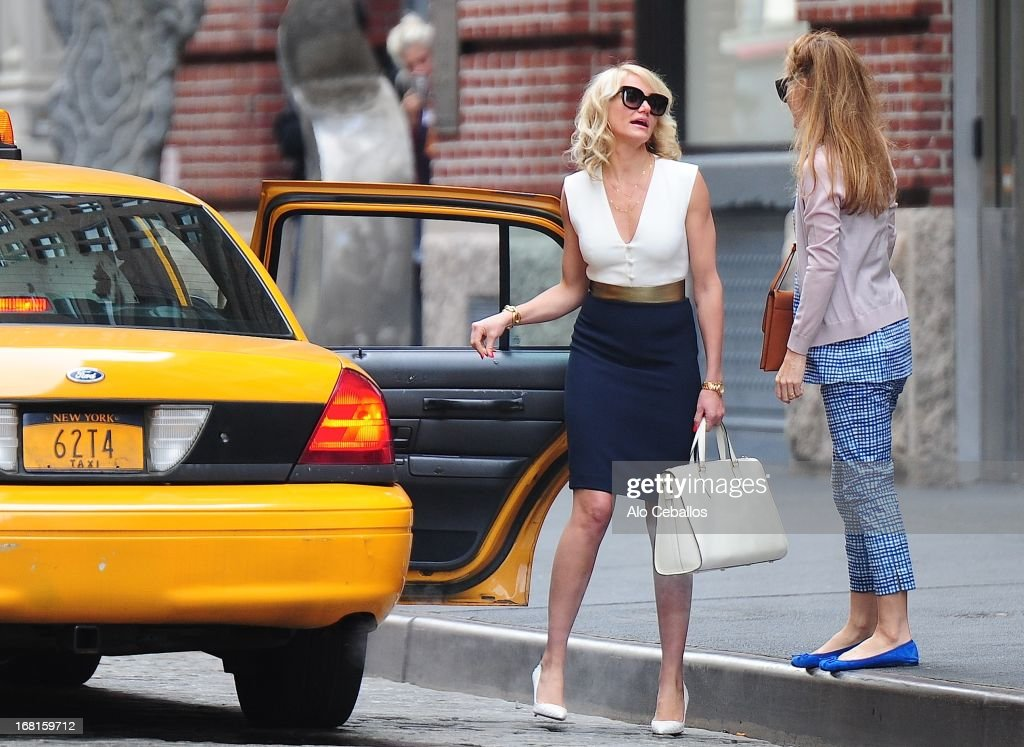 Cameron Diaz is seen on the set of 'The other Woman' on May 6, 2013 in New York City.