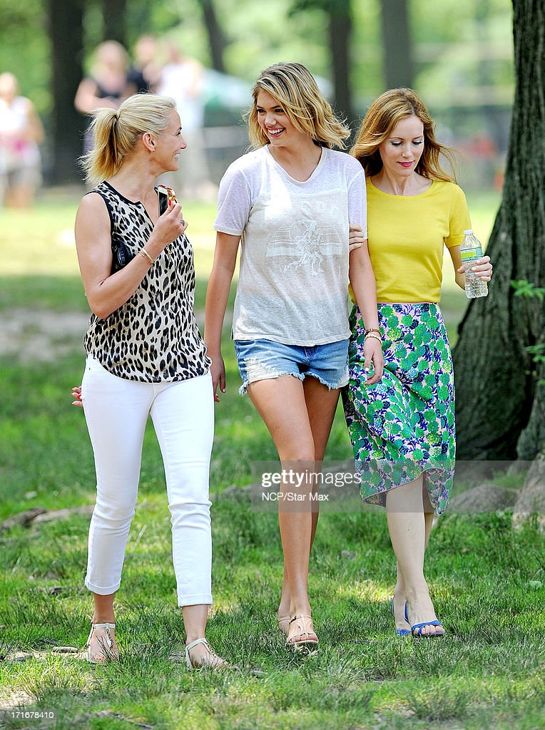 Cameron Diaz, Kate Upton and Leslie Mann as seen on June 27, 2013 in New York City.