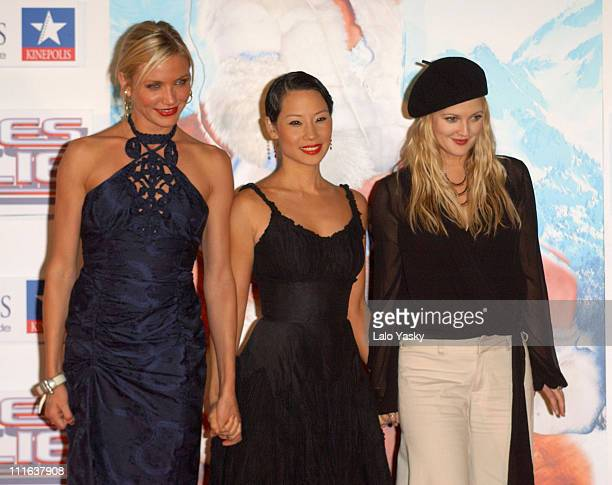 Cameron Diaz Lucy Liu and Drew Barrymore during 'Charlie's Angels Full Throttle' Madrid Premiere at Kinepolis Cinema in Madrid Spain