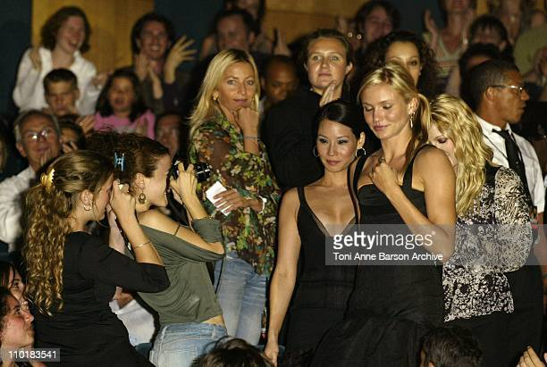 Cameron Diaz Lucy Liu Drew Barrymore during 'Charlie's Angels Full Throttle' Premiere Paris at UGC Normandy Champs Elysees in Paris France