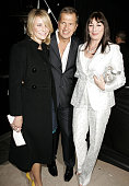 Cameron Diaz Mario Testino and Anjelica Huston during Herb Ritts and Mario Testino Receive Rodeo Drive Walk of Style Award Inside at Rodeo Drive in...