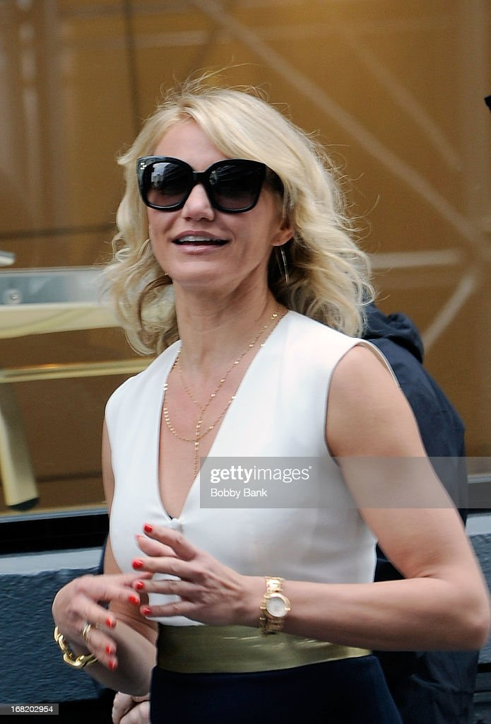 <a gi-track='captionPersonalityLinkClicked' href=/galleries/search?phrase=Cameron+Diaz&family=editorial&specificpeople=201892 ng-click='$event.stopPropagation()'>Cameron Diaz</a> on location for 'The Other Woman' on May 6, 2013 in New York City.