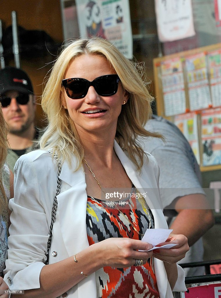 <a gi-track='captionPersonalityLinkClicked' href=/galleries/search?phrase=Cameron+Diaz&family=editorial&specificpeople=201892 ng-click='$event.stopPropagation()'>Cameron Diaz</a> on the set of 'The Other Woman' in Chinatown on June 24, 2013 in New York City.