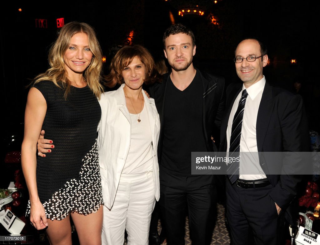 <a gi-track='captionPersonalityLinkClicked' href=/galleries/search?phrase=Cameron+Diaz&family=editorial&specificpeople=201892 ng-click='$event.stopPropagation()'>Cameron Diaz</a>, Sony Pictures Entertainment Co-Chairmain Amy Pascal, <a gi-track='captionPersonalityLinkClicked' href=/galleries/search?phrase=Justin+Timberlake&family=editorial&specificpeople=157482 ng-click='$event.stopPropagation()'>Justin Timberlake</a>, and Columbia Pictures President Doug Belgrad attend the after party for the New York premiere of 'Bad Teacher' at the The Bowery Hotel on June 20, 2011 in New York City.