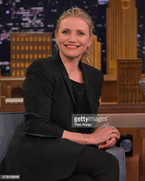 Cameron Diaz Visits 'The Tonight Show Starring Jimmy Fallon' at NBC Studios on April 6 2016 in New York City