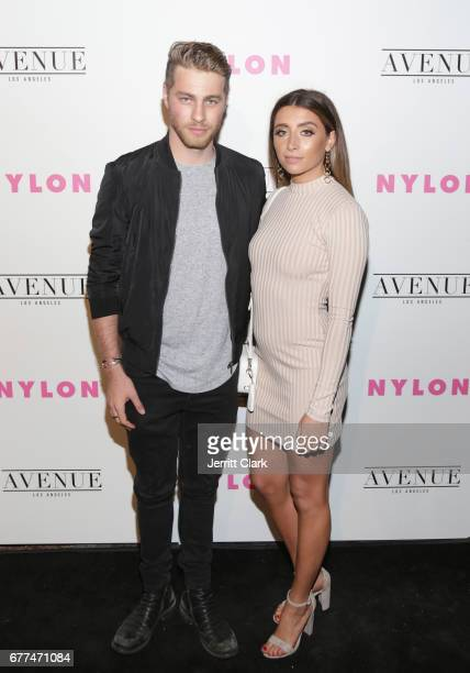 Cameron Fuller and Lauren Elizabeth attend NYLON's Annual Young Hollywood May Issue Event With Cover Star Rowan Blanchard at Avenue on May 2 2017 in...