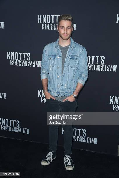 Cameron Fuller arrives at Knott's Scary Farm and Instagram's Celebrity Night at Knott's Berry Farm on September 29 2017 in Buena Park California
